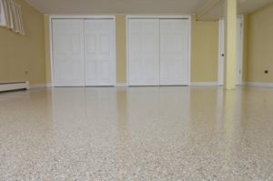 The Epoxy Pro Custom Decoflake Concrete Floor